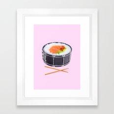 SUSHI DRUM ROLL Framed Art Print