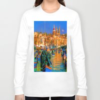 channel Long Sleeve T-shirts featuring The Channel by Robin Curtiss