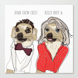 Celebrity Dogs-Ryan Chew-Crest & Kelly Ruff-A Canvas Print
