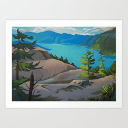 Hiking the Chief Art Print