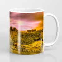 korea Mugs featuring Sunrise in Korea by Anthony M. Davis