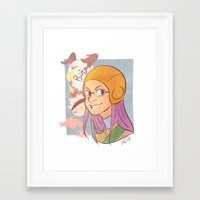 digimon Framed Art Prints featuring Digimon - Miyako by frolis