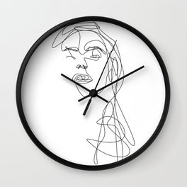 Modern Picasso by Sher Rhie Wall Clock