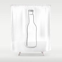 """ Kitchen Collection "" - Beer Bottle Shower Curtain"