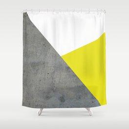 Concrete vs Corn Yellow Shower Curtain
