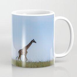 A Morning Walk: A Giraffe at Dusk Coffee Mug