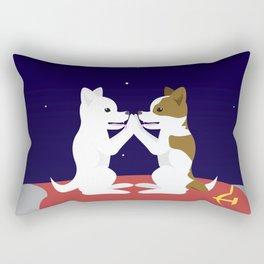 Belka and Strelka on the moon Rectangular Pillow