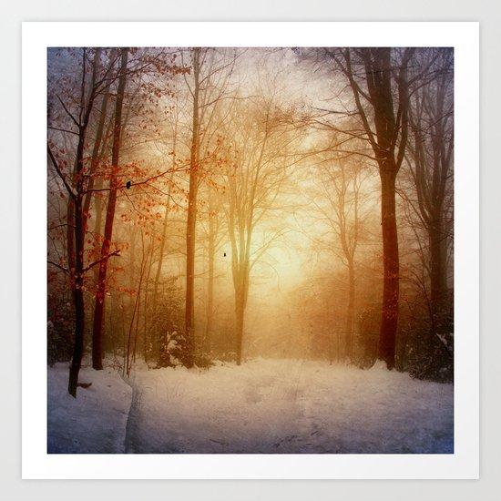 warm wintEr glOw Art Print