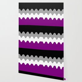 Wavy Asexual Flag Wallpaper