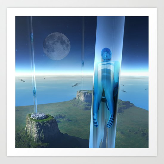 space elevator - babylon transfer station 02 Art Print