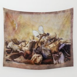 Respite of the Mosquito Hawk Wall Tapestry