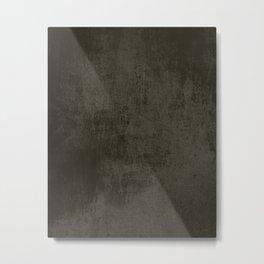Dark brown rustic concrete Metal Print