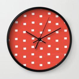 Dashing coral Wall Clock