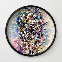 Takashi Murakami - Who's Afraid Of Red, Yellow, Blue And Death Wall Clock