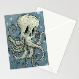 Nasty octopus Stationery Cards