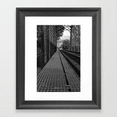 Rails of Travel Framed Art Print