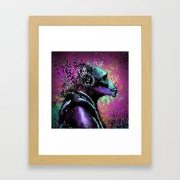 Splatter Ape Framed Art Print