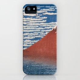 Katsushika Hokusai - Fine Wind, Clear Morning (Gaifū kaisei) (1830) iPhone Case