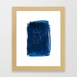Gemini Zodiac Print Framed Art Print