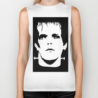 lou reed Biker Tanks featuring Lou Reed Reanimated  by Spirit Monster
