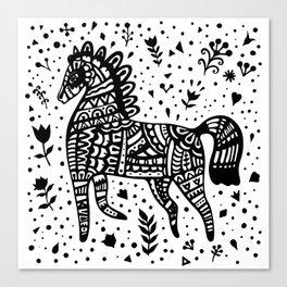Little Black Pony Canvas Print
