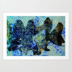 BLACK FISH Art Print