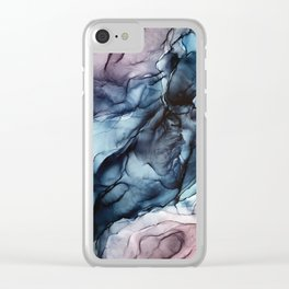 Blush and Darkness Abstract Paintings Clear iPhone Case