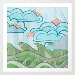 Ducky's Travels: Wind Art Print