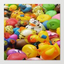 Rubber Duckies Canvas Print