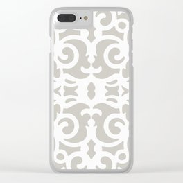 Contemporary Scrollwork Clear iPhone Case
