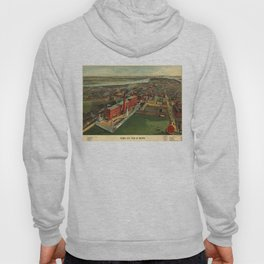 Vintage Pictorial map of Boston (1902) Hoody