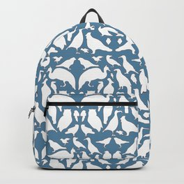 Bird Silhouettes - Blue Backpack