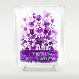 Floral Charm No.1B by Kathy Morton Stanion Shower Curtain