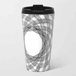 GEOMETRIC NATURE: HELIX w/b Travel Mug