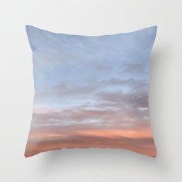 Pretty Pink Sky Throw Pillow