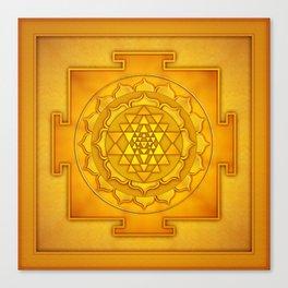 Golden Sri Yantra II Canvas Print