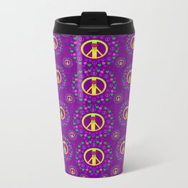 Peace be with us in love and understanding Metal Travel Mug