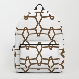 Brown and White Tessellation Line Pattern 9 - Sherwin Williams 2022 Color Uber Umber SW 9107 Backpack