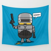 law Wall Tapestries featuring Despicable Law Enforcer by pigboom el crapo