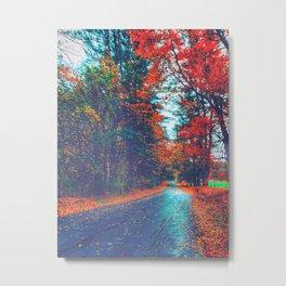 Autumn Way Metal Print