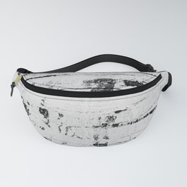 Distressed Grunge 102 in B&W INVERSE Fanny Pack