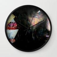 johnny cash Wall Clocks featuring Johnny Cash by Glen Ronald