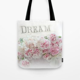 Dreamy Pink Roses Floral Print - Romantic Shabby Chic Dream Floral Home Decor Tote Bag