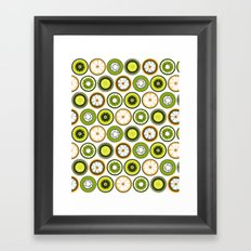 Black Border Fruits Framed Art Print