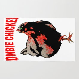 All Fear The Zombie Chicken! Rug