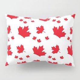 Canada Maple Leaf-Large-White Pillow Sham