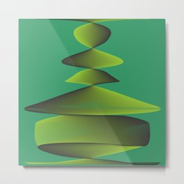 green fantasy object Metal Print