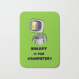binary is for computers Bath Mat
