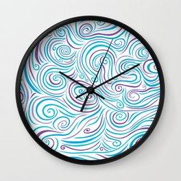 Blue & Purple Swirl Explosion Wall Clock