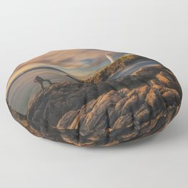 On The Rocky Outcrop Floor Pillow